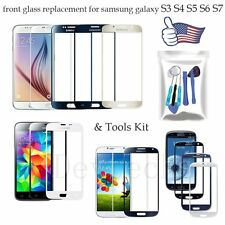 Front Screen Glass Lens Replacement For Samsung Galaxy S3 S4 S5 S6 S7 +Tools Kit