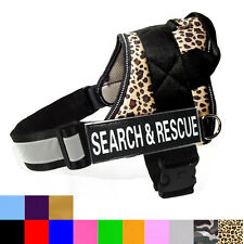 "Reflective SERVICE Dog Harness Dog Vest with Removable Patches ""SEARCH & RESCUE"""