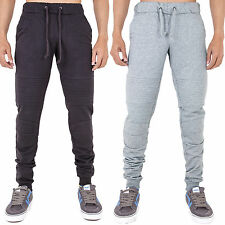New Mens Biker Sweat Gym Joggers Jogging Bottoms Skinny Slim Fit Stretch Cuffed