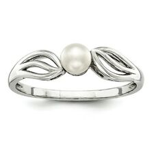 Sterling Silver Fresh Water Cultured Pearl Ring - Ring Size: 5 to 10