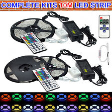 10M 600LED 3528 5050 5630 SMD Flexible LED Strip Lights +Remote +Power Adapter