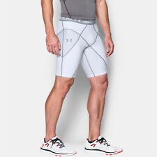 Under Armour Heat Gear Core Mens White Compression Running Shorts Pants