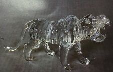 TIGER Figurine Crystal Glass