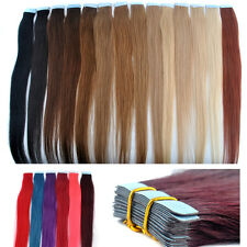 40/45/50/55/60cm Straight 100% Remy Tape in Human Hair Extensions PU hair piece