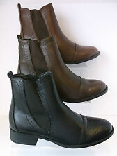 Spot On Ladies Ankle Boot F50259 Black, Brown or Tan UK 3 X 8 (R15A)