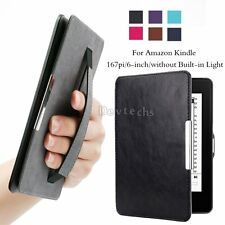 Ultra Thin Smart Hand Strap Magnetic Leather Stand Cover Case For Amazon Kindle7