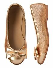 GYMBOREE City Kitty Very Merry Gold Shoes Flats SZ  10 11 12 13 1 2 NEW