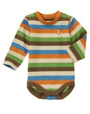 Gymboree Fox Fella Bodysuit Boy SZ 0-3mo 3-6mo Knit Striped bodysuit NEW