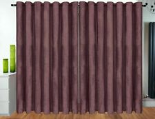 Curtains Eyelet Ring Top Ready Made fully Lined Designer CHENILLE Curtains MAUVE