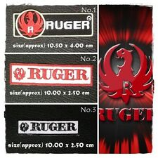 Ruger Sew On Patch Iron Embroidered Badge Firearms Guns Hunting Rifle Weapons