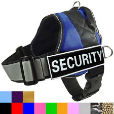 Reflective Service Dog Vest with Removable Patches padded Dog Harness 13 Colors