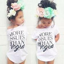 Clothes Kids Tops Summer Blouse Casual Baby Toddler T-shirt Girls Short Sleeve