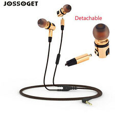 HiFi Earphones Wired Plug Earphone In-ear Golden And Gray Detachable X46M
