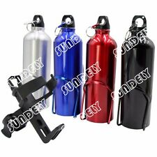MOUNTAIN BIKE BICYCLE CYCLE WATER DRINK BOTTLE HOLDER CAGE SET + Drink Holder