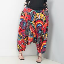 Harem Skirt Pants Trousers Flower Baggy Low Drop-crotch Linen Loose Bloomers New