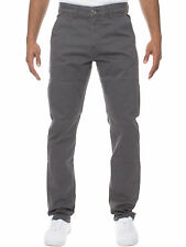 New Mens ENZO Designer Tapered Fit Grey Jeans Pants Sizes 30R-34R