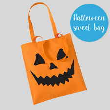 Halloween Trick Or Treat Pumpkin Sweets Gifts Shopper Tote Bag Party Funny Kids