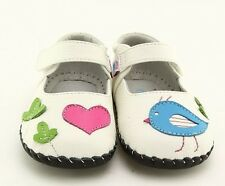 "Freycoo ""Aria"" White Soft Sole Leather Shoes Baby Girl 6 to 24 months"