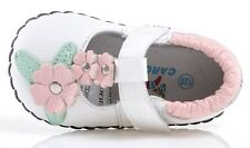 """Caroch """"Simplicity"""" White Leather Soft Sole Shoes Baby Girls sizes 6 to 24 month"""