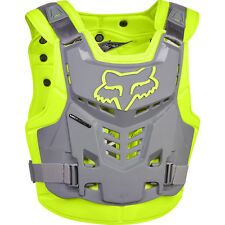 NEW Fox Racing 2017 Mx Proframe LC Yellow Grey Roost Body Armour Chest Protector