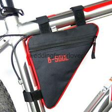 Oxford Bike Cycling Bicycle Front Tube Frame Pouch Bag Pannier Phone Card Holder