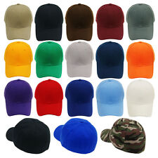 4Pcs Blank Fitted Baseball Cap Plain Curved Visor Hat Wholesale Lot  - 9 Sizes