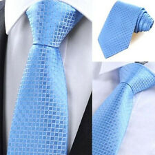 New Fashion Classic Checks Jacquard Woven Silk Men's Tie Necktie Party Wedding