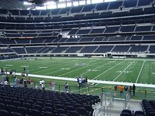 3 DALLAS COWBOYS Chicago Bears TICKETS C133 Row 14 Hall of Fame Club