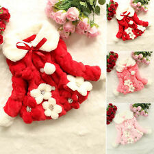Toddler Kids Girls Warm Hooded Jacket Winter Outerwear Princess Coat Bow Clothes