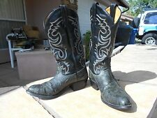 Womens Tony Lama Black Green Snakeskin Exotic Leather Cowgirl Western Boots 8 D