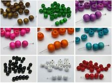 200 pcs Round Wood Beads 10mm Wooden Beads Pick Your Colour