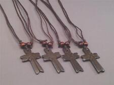 """Christian Pendant Necklace - 2"""" Relief Wood Cross Adjustable Loop Casual GIFT"""