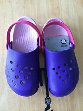 Crocs Electro Girls UltraViolet/Bubblegum Shoes Size C12 NEW