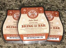 SCENTSY BAR LOT OF 3 NEW -BBMB AMBER ROAD BARS - RARE