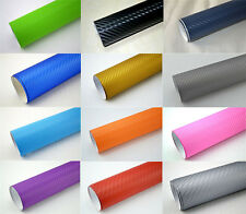 3D Vinyl Wrap Film Sheet Carbon Fiber vinyl Car Wrap Roll Decal Air Free Sticker