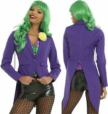 Joker Purple & Black Pinstriped Tuxedo Jacket For Juniors ~DC Comics~ Free Ship