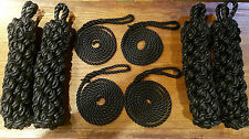 4 x ROPE SIDE FENDERS & LANYARDS FOR NARROWBOAT OR BARGE, BOAT, CANAL