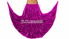 Belly Dance Skirt 8 Yard 3 Tire Skirt Long Skirt Elastic Waist Formal Skirt Girl