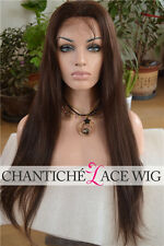 Best Front Lace Human Hair Wigs Black Women Indian Remy Silky Straight Full Wig