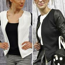 Fashion Women Slim Casual Business Blazer Suit Jacket Coat Outwear Zipper S-XL