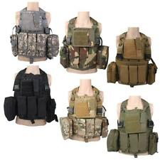 Molle Multi Pockets Tactical Airsoft Assault Military Hunting Vest Chest Carrier