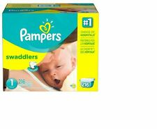 Pampers Swaddlers Size 1 Diapers Economy Plus Pack - 216 Count-Brand New