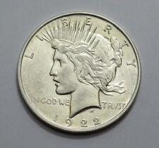 1922-D AU/UNC Peace Dollar Very Nice  US Silver Coin, No Reserve! You Grade It!