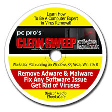 Learn To Be A Computer Expert in Removing Virus Spyware Malware - Ebooks on CD