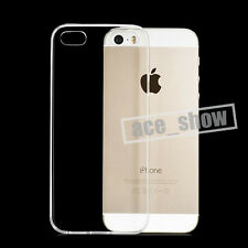 Soft Clear Crystal Transparent Thin Gel Silicone TPU Case Cover For Apple iPhone