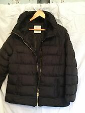 Ladies New Black Quilted Winter Coat, Fur Lined Collar - Size 16