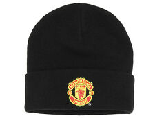 Official Manchester United Black Adult Beanie Football Merchandise