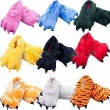 Women Men Unisex-Adult 'Animal' Colorful Animal Paw Soft Plush Slippers Shoes