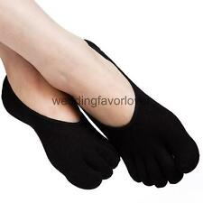 Women Silicone Slip Toe Socks Low Cut Invisible Shallow Mouth Socks