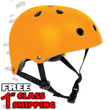 SFR Skateboard Skate Scooter Roller Derby Inline Helmet - Fluo Orange FREE SHIP